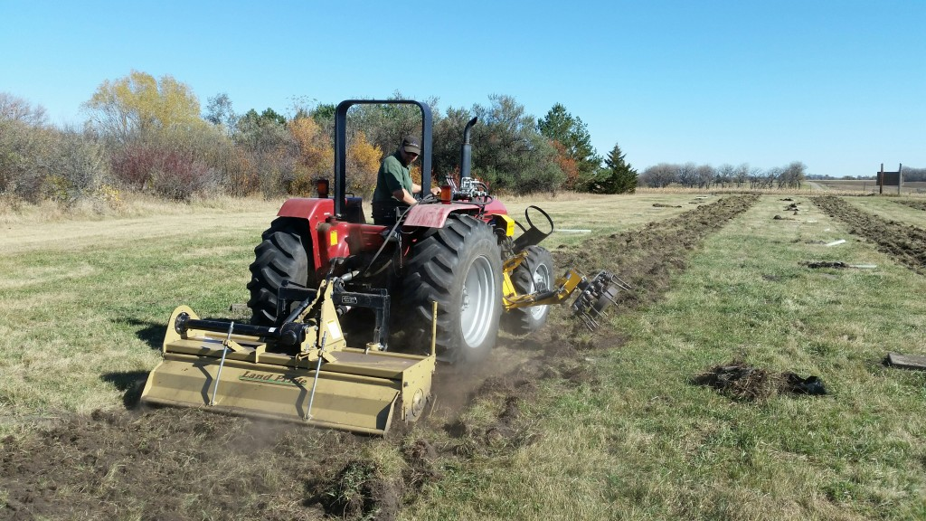 Tilling the rows